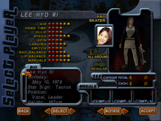 Screenshot of THPS2 Korean - Lee Hyo Ri's Style A