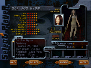 Screenshot of THPS2 Korean - Ock Joo Hyun's Style A