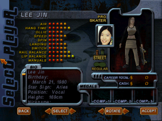 Screenshot of THPS2 Korean - Lee Jin's Style A