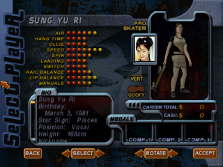 Screenshot of THPS2 Korean - Sung Yu Ri's Style A