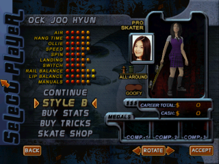 Screenshot of THPS2 Korean - Ock Joo Hyun's Style B