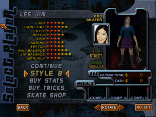 Screenshot of THPS2 Korean - Lee Jin's Style B